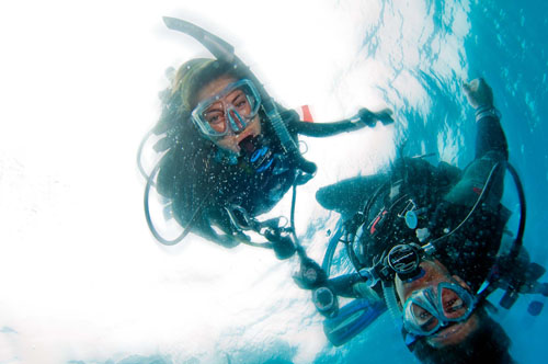 Scuba diving together with A Water Odyssey Scuba